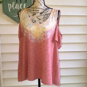 Sonoma Cold Shoulder Top L